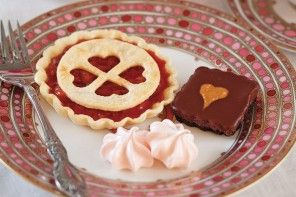 These three Valentine's Day sweets are Cherry Tartlets (left), Strawberry…