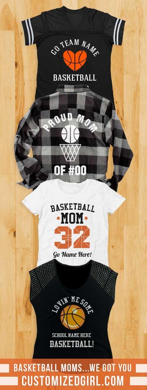 Take it to the hoop this season with a custom basketball mom shirt!