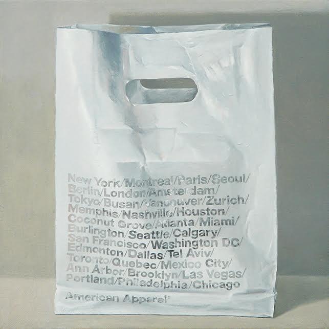 "American Apparel, Jaye Schlesinger, 12""x12"" $950"