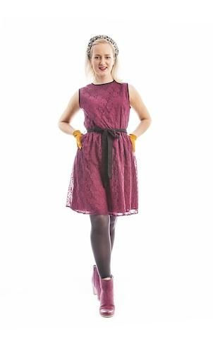 Se min kjole retro blonde-kjole