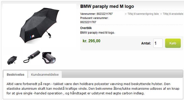 BMW paraply med M logo