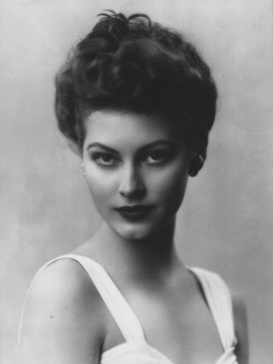 "1937. Ava Gardner age 15 looking poised and glamorous in this early portrait. Of all the pre-Hollywood shots, not forgetting Larry Tarr's image that brings her to the attention of MGM, this is the one that best captures the devastating looks that will lead MGM to tout her as ""The world's most beautiful animal"". Yet …"