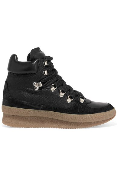 Isabel Marant - Brent Suede, Leather And Canvas Sneakers - Black - FR40