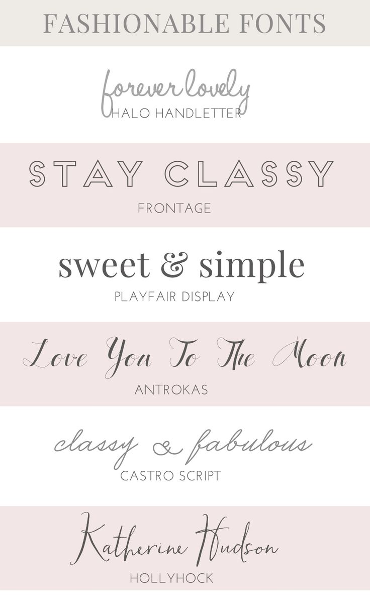 FASHIONABLE FONTS tjn