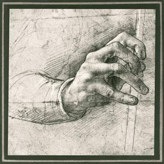 Leonardo da Vinci - Study of a Hand (pen & ink on paper)