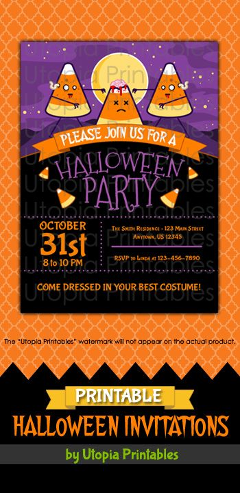 halloween party templates