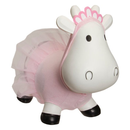 Bouncy cow dressed as a ballerina