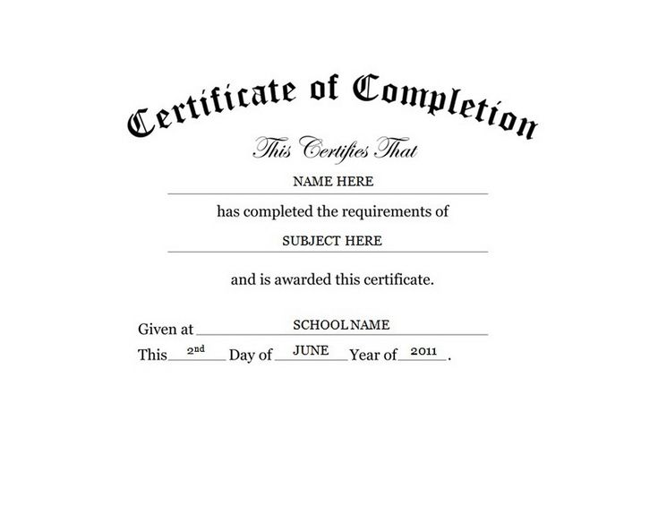 Certificate of Completion Free Templates Clip Art & Wording | Geographics
