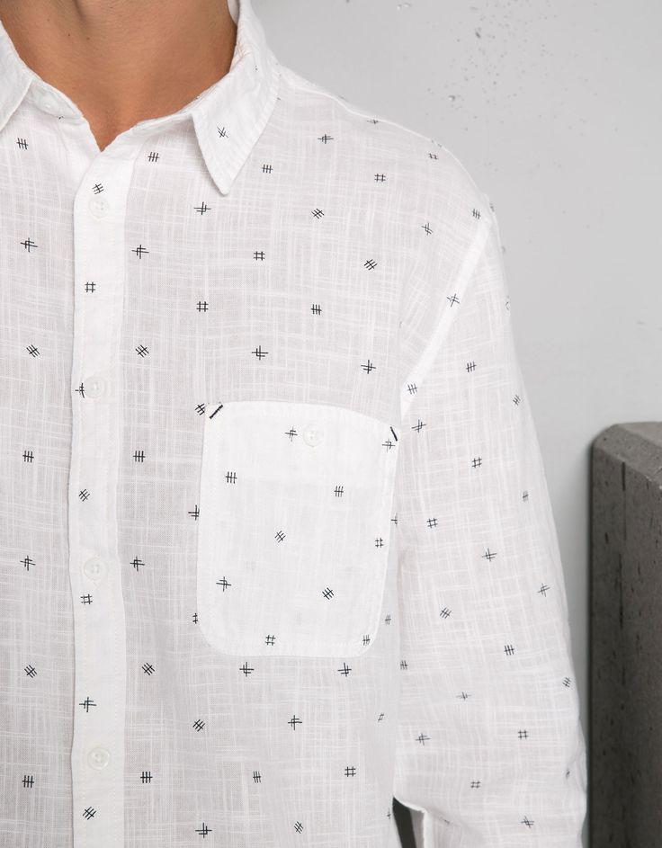 All-over print shirt - Shirts - Bershka United Kingdom