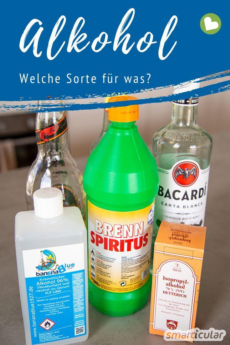 Welcher Alkohol Wofur Der Richtige Alkohol Fur Hausmittel Und