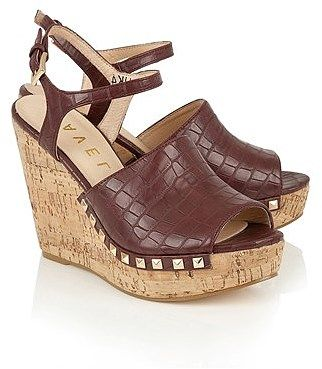 Womens chocolate ravel wedge sandal from Lipsy - £60 at ClothingByColour.com