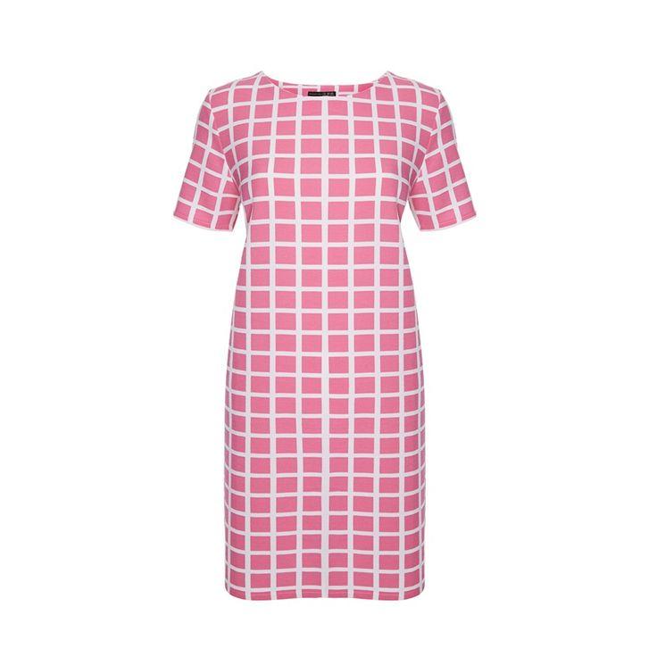 Primark - Vestido recto rosa crepé