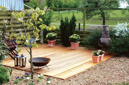 Byg en terrasse af træ | Kolonihave | Pinterest | Terrasse and Træ