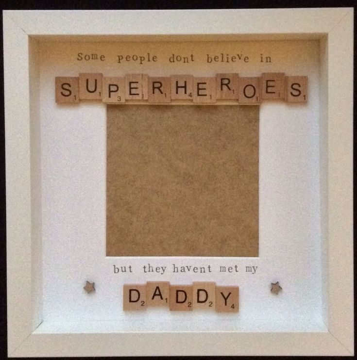 Handmade scrabble tile frame, perfect gift for daddy s