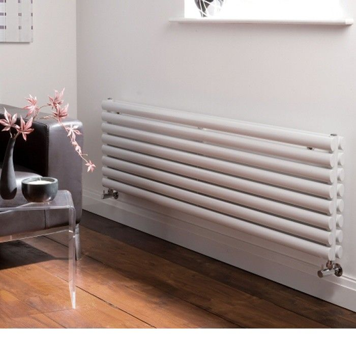 White horizontal radiator for that minimal effect.