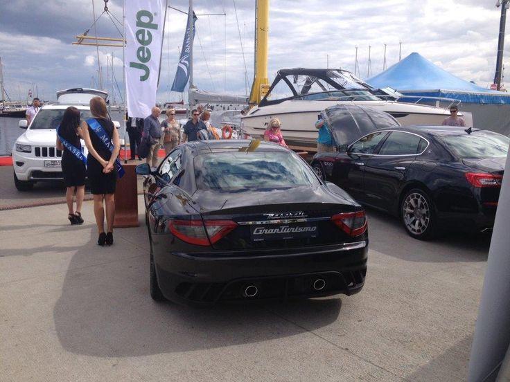 Najnowsza wersja (4-ro miejscowa) modelu #GranTurismo MC Stradale z silnikiem 4.7 V8 o mocy 460 KM na targach Wiatr i Woda w Gdyni