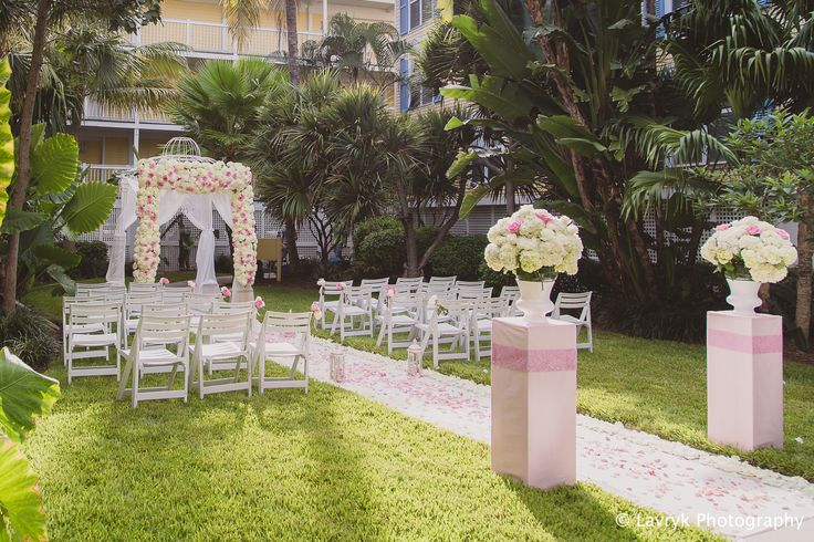 Garden Wedding Ceremony set up by Say Yes in Key West www.sheratonkeywest.com