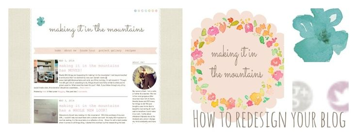 How to Redesign your Blog @ making it in the mountains #pintorials