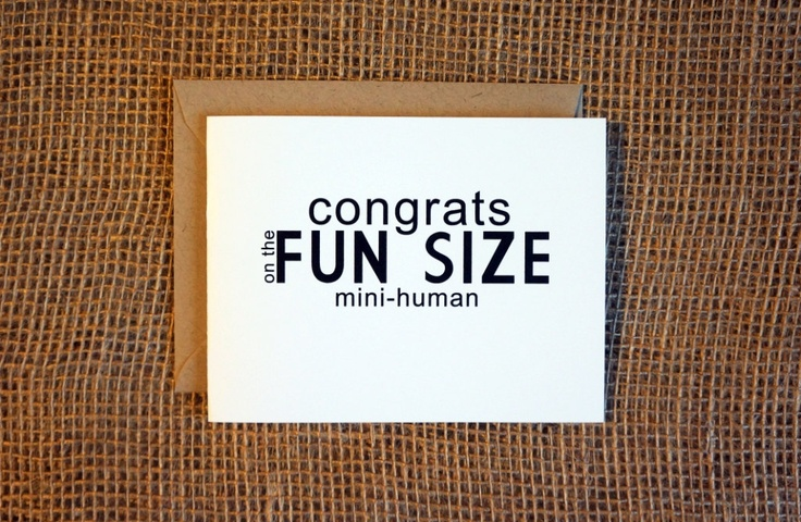 New Baby Modern Funny Greeting Card