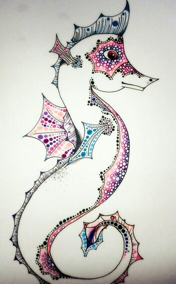 by Anna Szabo #dotwork #sea #colorful #draw #drawing #art