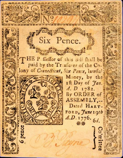 six pence, currency