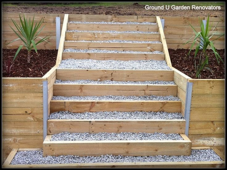 Landscaping Wall Steps : Retaining wall landscaping steps hillside