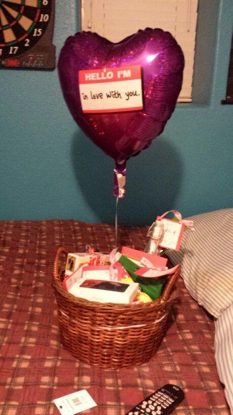Valentine S Day Gift Basket For My Boyfriend His Favorite Candies