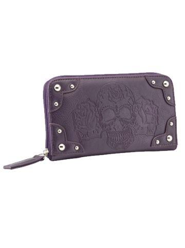 "Women's ""Dia De Muerte"" Wallet by Rock Rebel (Plum)  #InkedShop #wallet #sugarskull #accessories"