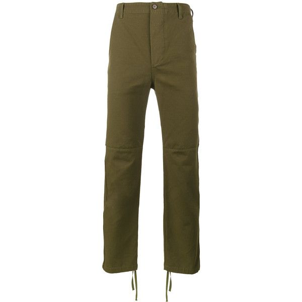 Balenciaga Utility slim fit trousers (€350) ❤ liked on Polyvore featuring men's fashion, men's clothing, men's pants, men's casual pants, green, mens zip off pants, mens green pants, men's casual cotton pants, mens utility pants and mens slim pants