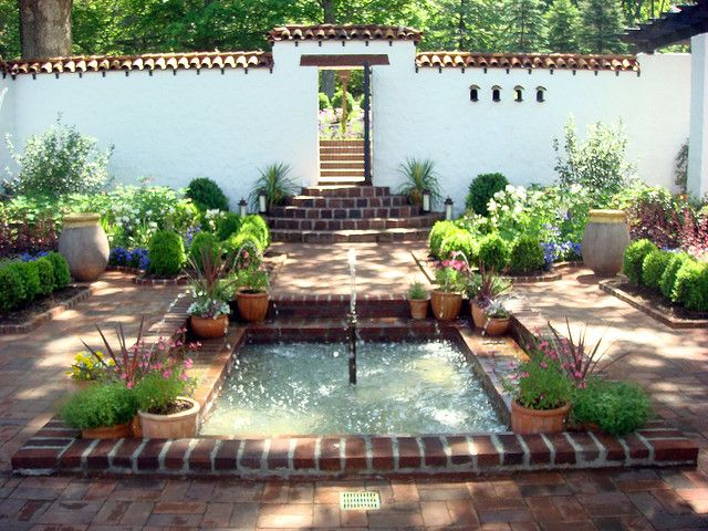 Spanish-style courtyards
