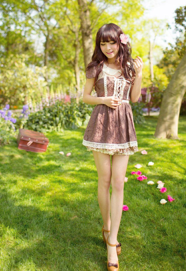 Mango Doll - Peter Pan Collar Brown Flower Lace Dress, $34.00 (http://www.mangodoll.com/all-items/peter-pan-collar-brown-flower-lace-dress/)