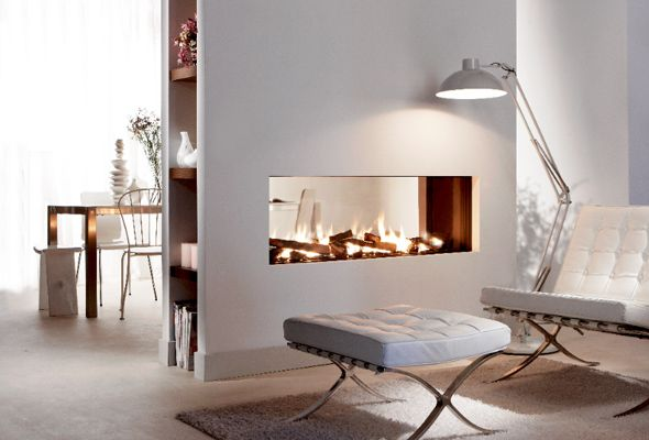 see through fireplaces | Frameless see-through Fire : Frameless see-through Fire I like this configuration, but am not sure whether to face it with a beautiful granite or marble of stone like some of these others.