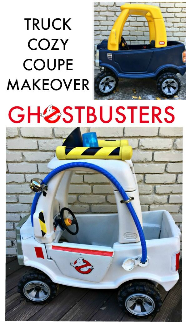Have an old Little Tikes Truck Cozy Coupe? With a couple of supplies you can make it a Ghostbusters Ecto-1 Car so your kid can think he is a Ghostbuster!