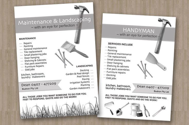 Flyer design graphic design handyman pinterest