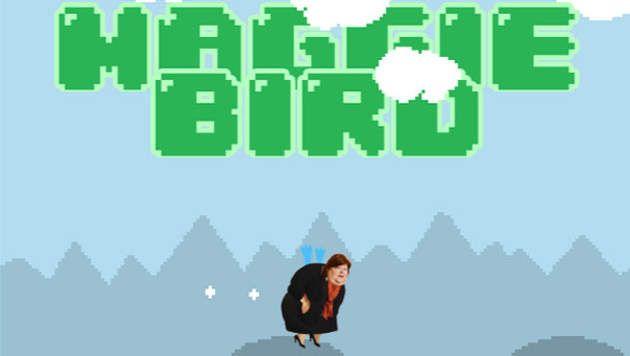 "Maggie De Block, héroïne du jeu ""Maggie Bird"""