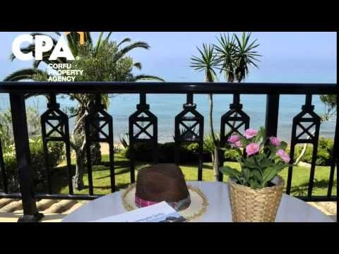 Seafront villa for sale in Glyfada, Central Corfu-CPA 3651 - YouTube