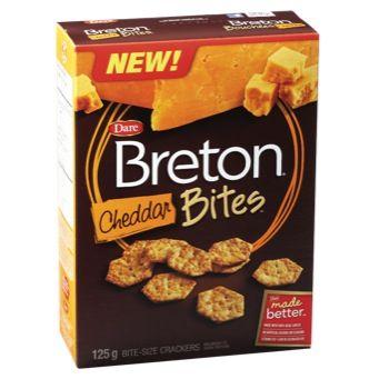 Cheese Bites Cheddar Breton Crackers