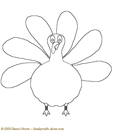 Thanksgiving Pictures To Color. Turkey TemplatePrintable ...