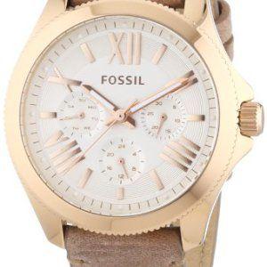 Fossil - AM4532 - Montre Femme - Quartz Analogique - Bracelet Cuir Beige