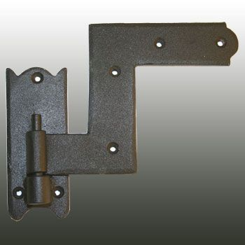 Window Shutter Hinge 4 in. H Sold Indivi - Shutter Hinges Black Wrought Iron