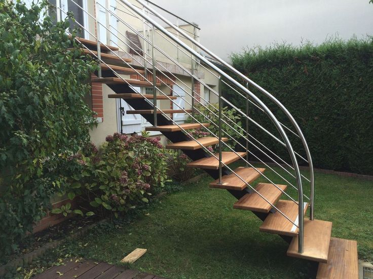 17 best Treppe images on Pinterest Stairs, Staircases and Steel stairs - realiser un escalier exterieur