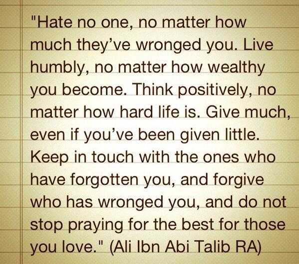 Wisdom from Islam...