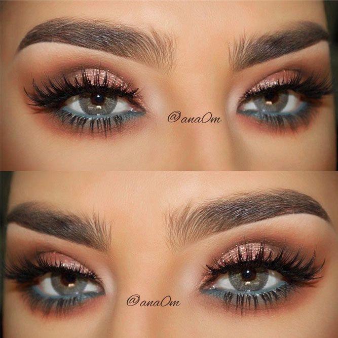 50 Stunning Eye Shadow Looks For Gorgeous Grey Eyes Shimmer Makeup Eye Makeup Eye Makeup Tips