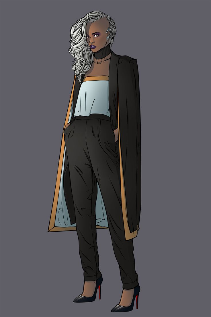 X-women Marvel Fashion serie: Ororo Munroe aka Storm Find her on my artbook and go help me make that book real https://www.kickstarter.com/projects/1741342043/kicking-ass-and-wearing-heels-the-fashion-art-of-c