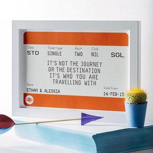 Personalised Train Ticket Print - posters & prints