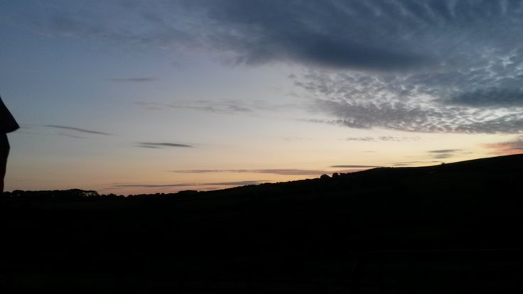 zachód słońca nad oceanem...