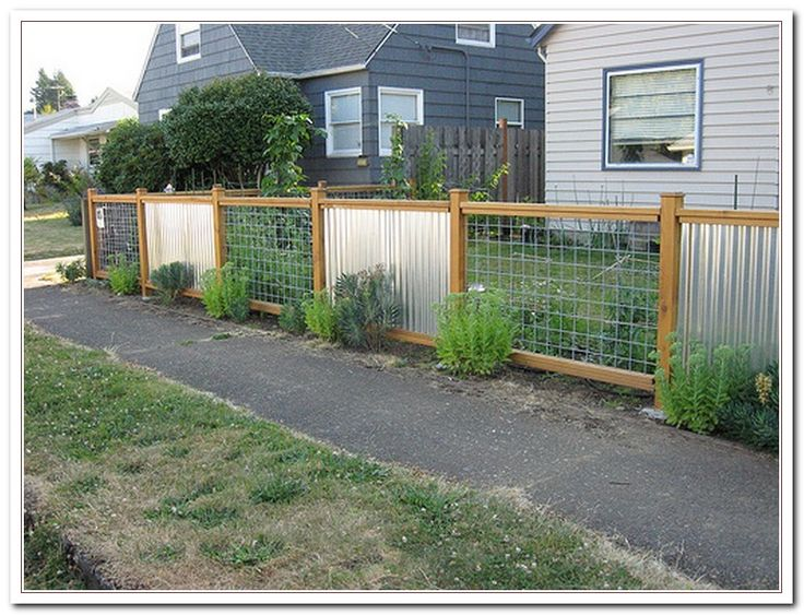Corrugated Metal Fence Ideas                                                                                                                                                                                 More