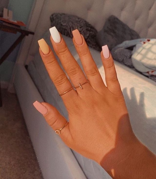 Mismatched Cute Nail Colors In 2020 Pretty Acrylic Nails Best Acrylic Nails Dream Nails