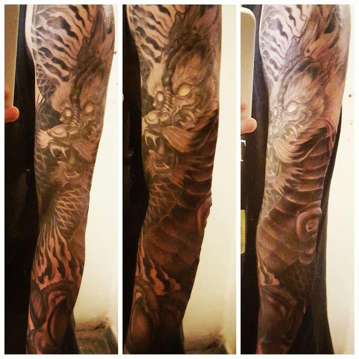 Asian Dragon Tattoo Sketch By Marinaalex On Deviantart: Best 20+ Dragon Sleeve Tattoos Ideas On Pinterest