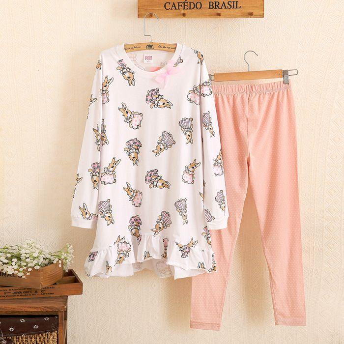 Rabbit Plus Size Pyjama Femme Ete Pijama Entero Mujer Pyama Woman Pijamas De Bichos Pyjama Femme Pijama Feminino Pijamas Mujer